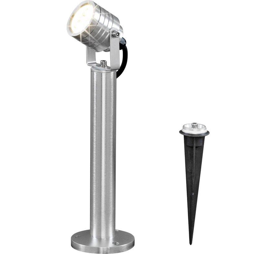 Konstsmide - Monza LED 3x1W 1-lichts 35cm 230V + stekker 3000K - zilver