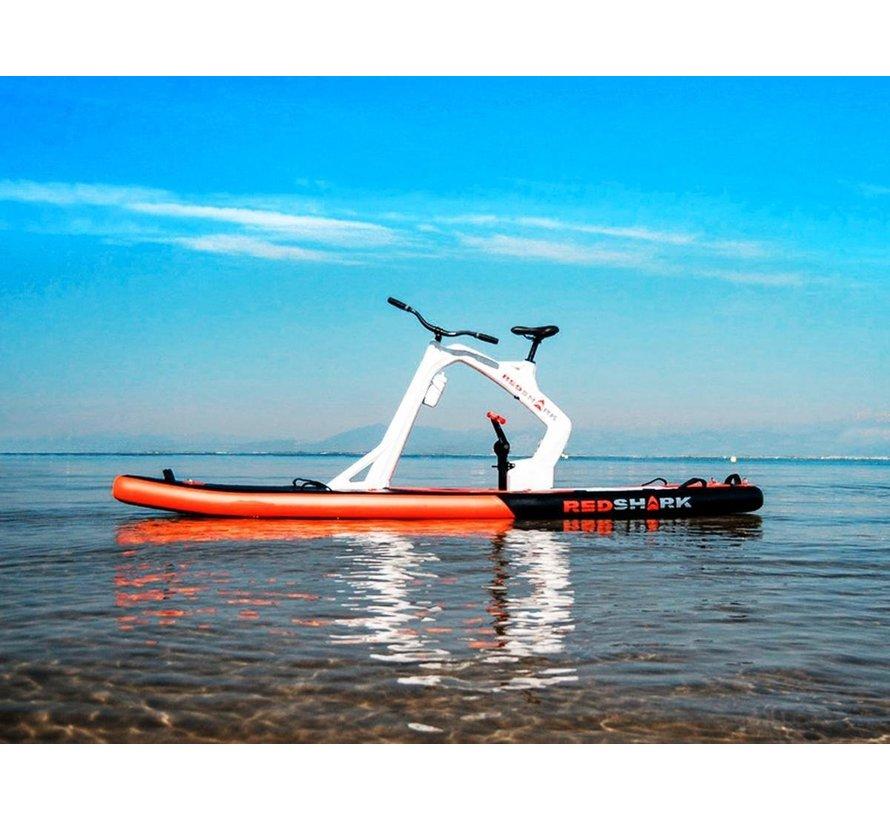 Waterfiets Sup-fiets Red Shark Bike model  Enjoy