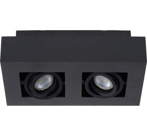 Lucide Lucide XIRAX Plafondspot - LED Dim to warm - GU10 - 2x5W 2200K/3000K - Zwart