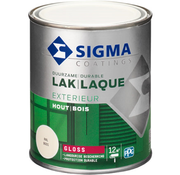 Sigma Sigma Lak Exterieur Hout Hoogglans RAL 9001 750 ml