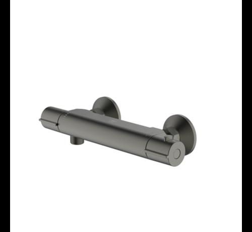 Aquavive AquaVive thermostatische douchekraan Nilson gun metal 15cm