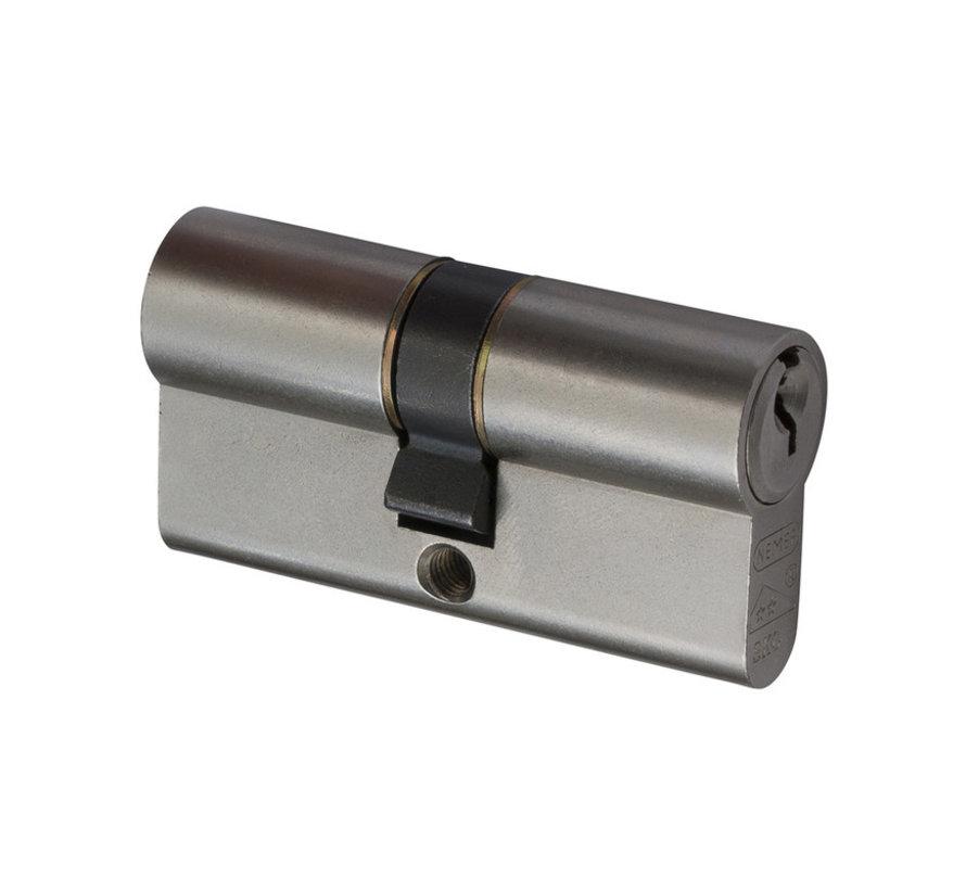 Nemef veiligheidscilinder 111/9 - Met boorbelemmering - Anti slagpick - SKG** - Lengte 60mm - Met 6 sleutels - 3 cilinders in verpakking