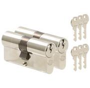 Nemef Nemef cilinder 91260 - Met 6 sleutels - In zichtverpakking - 2 cilinders in verpakking