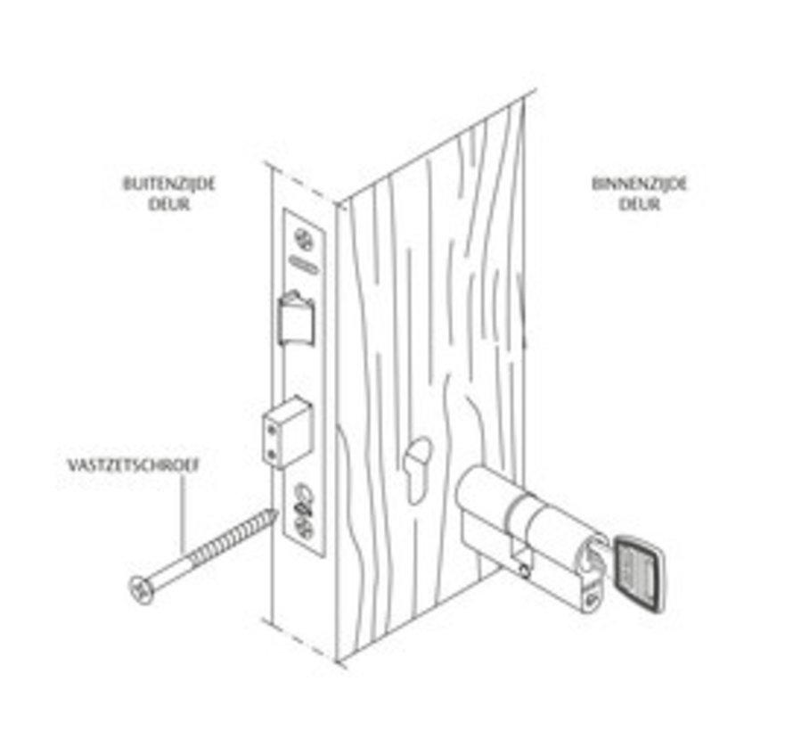 Nemef veiligheidscilinder 111/9 - Met boorbelemmering - Anti slagpick - SKG** - Met 3 sleutels - 1 cilinder in verpakking