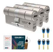 M&C M&C Color+ cilinder met kerntrekbeveiliging (3x) - SKG***