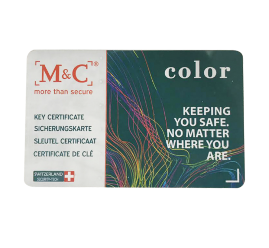 M&C Color+ cilinder met kerntrekbeveiliging (2x) - SKG***