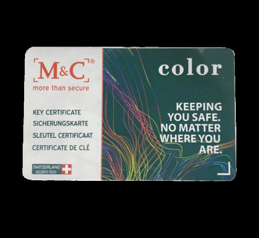 M&C Color+ knopcilinder met kerntrekbeveiliging - SKG***
