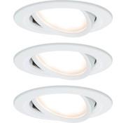 Paulmann Paulmann Coin Slim LED Inbouwspots - 3 stuks - Dimbaar - Wit