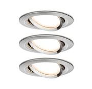 Paulmann Paulmann Coin Slim LED Inbouwspots - 3 stuks - Dimbaar - IJzer/Zilver