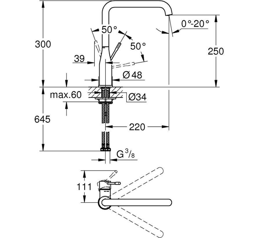 GROHE Essence New keukenkraan - Hoge uitloop - Hard Graphite geborsteld (mat antraciet)