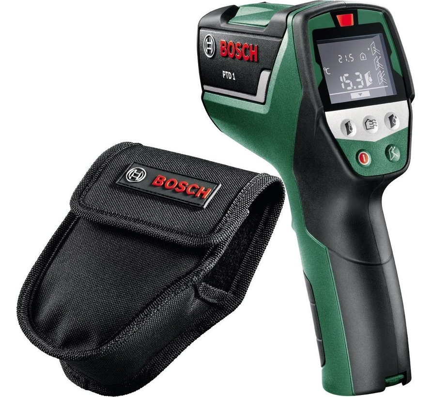 Bosch PTD 1 Warmtemeter - Met batterijen en opbergtas