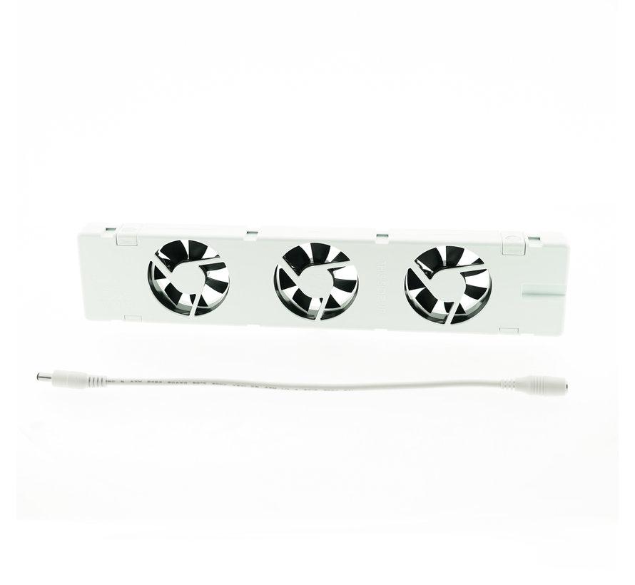 SpeedComfort B - Ventilatorstrook & koppelkabel - 30cm - wit