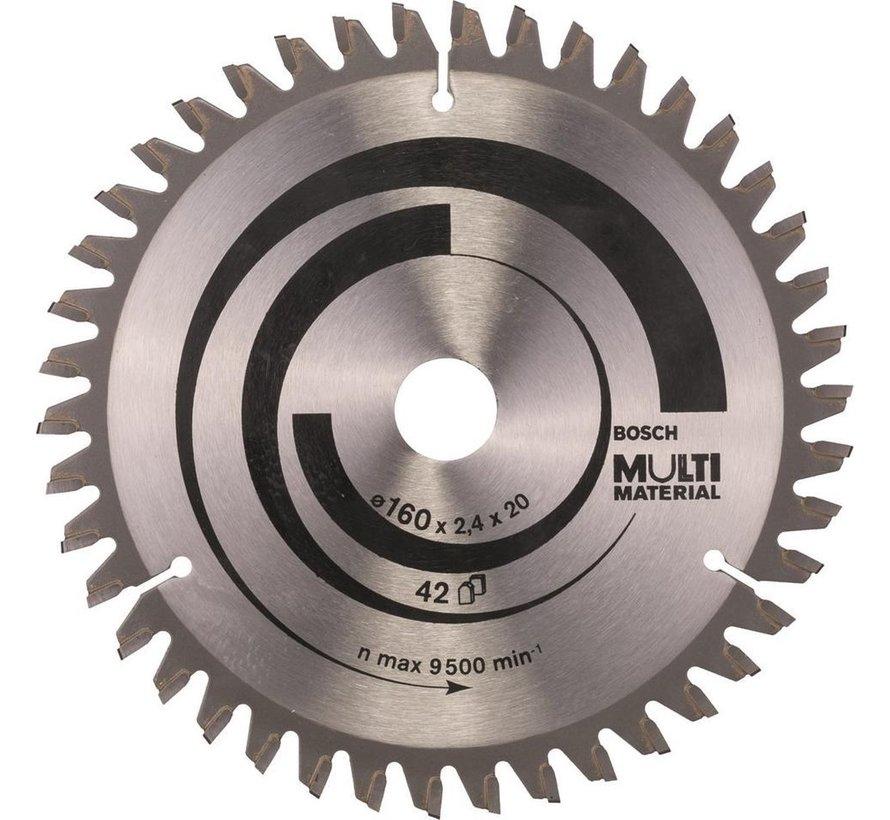 Bosch - Cirkelzaagblad Multi Material 160 x 20/16 x 2,4 mm, 42