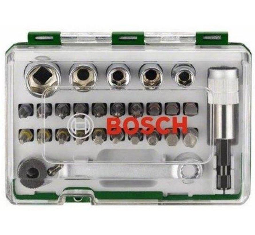 Bosch Bitset Met Mini Bitratel 1/4 27delig accessoire schroefboormachine