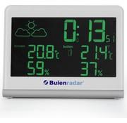 Buienradar Buienrader BR-600 Buienradar weerstation - Meet binnen-en buitentemperatuur met radio gestuurde klok