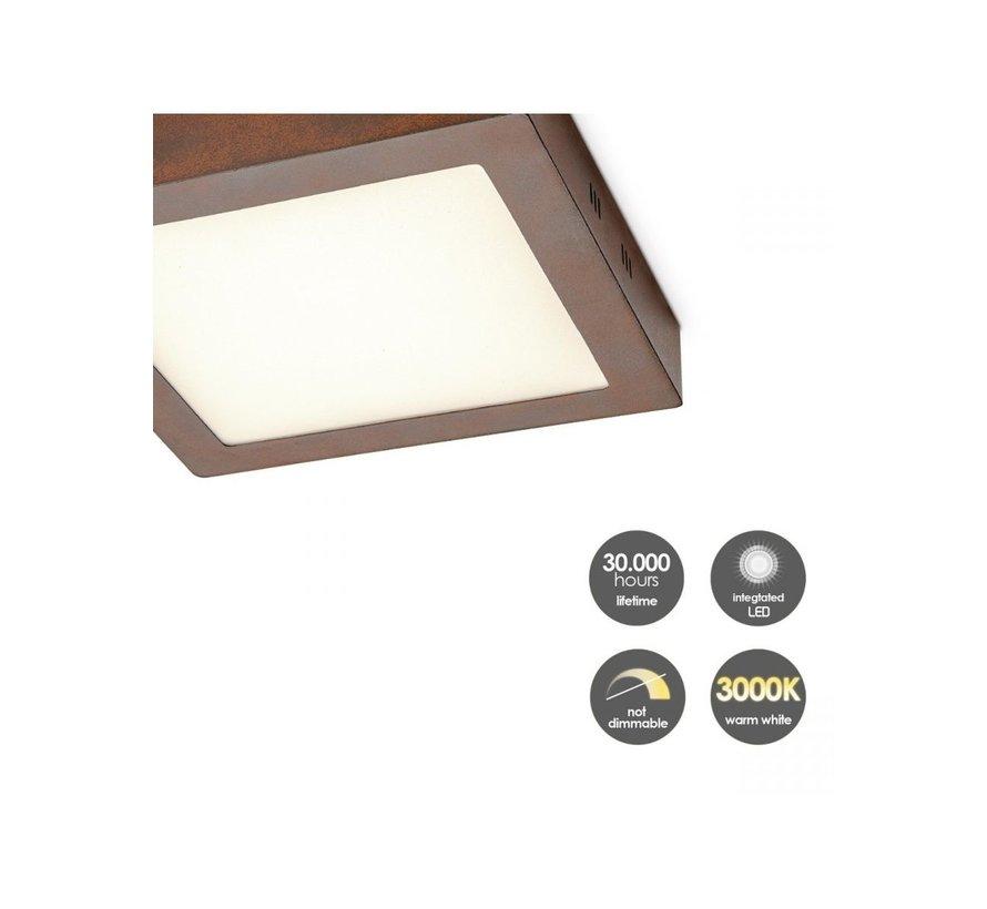 Home Sweet Home plafondlamp LED Ska vierkant roest 15W