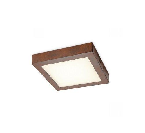 Home Sweet Home Home Sweet Home plafondlamp LED Ska vierkant roest 15W