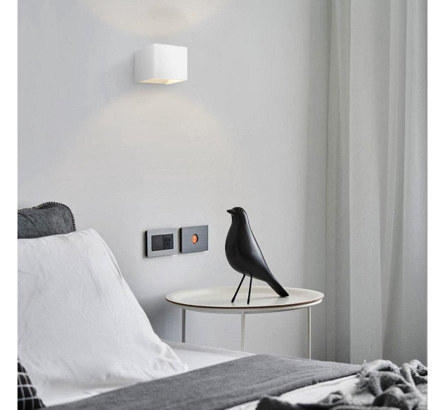 Home sweet home LED wandlamp Anna  11 cm - wit