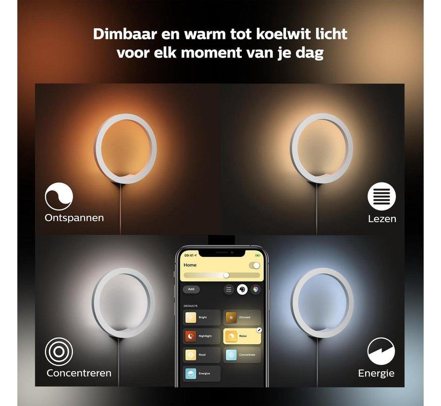 Philips Hue Sana Wandlamp - White and Color Ambiance - Gëintegreerd LED - Wit - 20W- Bluetooth