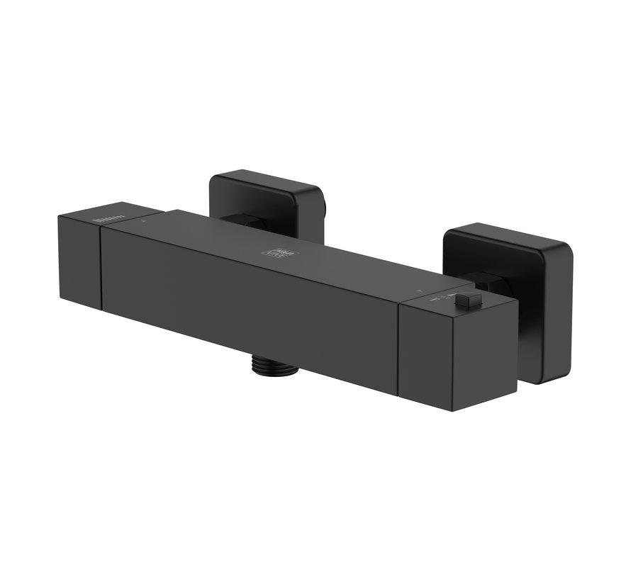 AquaVive thermostatische douchekraan Tanaro zwart 15cm