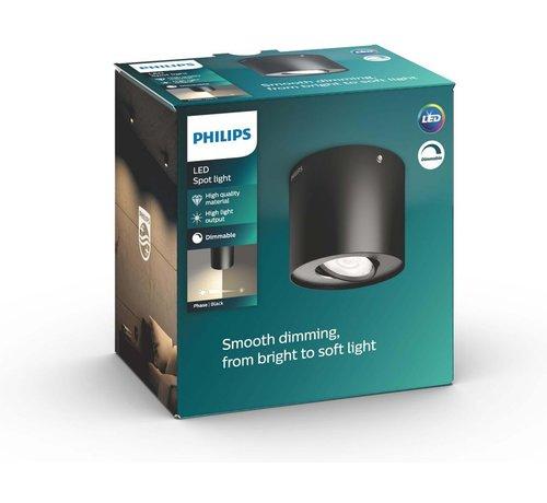 Philips Philips myLiving Phase Opbouwspot - 1 lichts - LED - Zwart