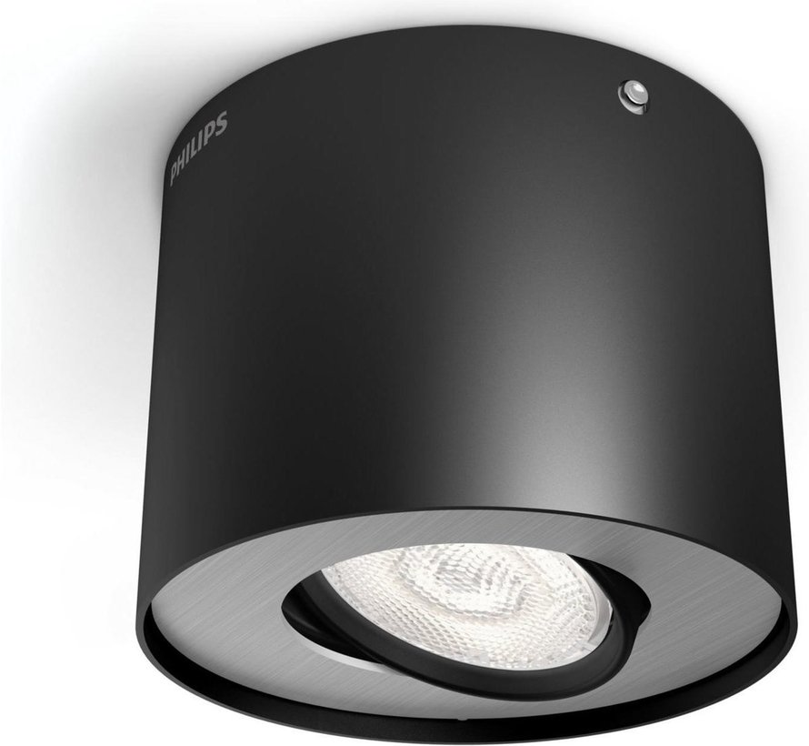 Philips myLiving Phase Opbouwspot - 1 lichts - LED - Zwart