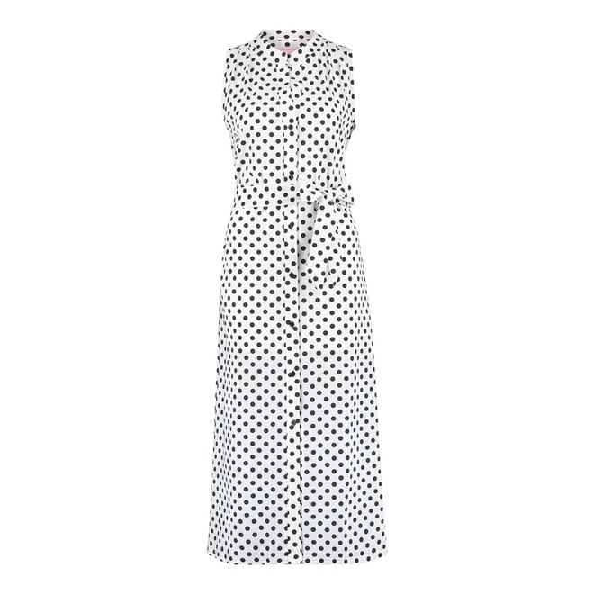 SHELBY DOT DRESS 04690 WHITE