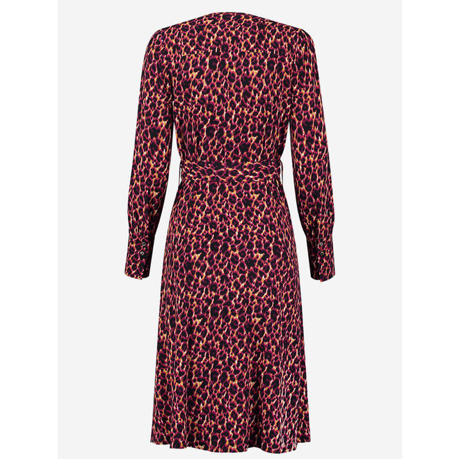 SACHI WRAP DRESS FH 5-864 2004 WILD CAT NAVY