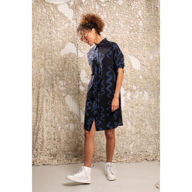 STUDIO ANNELOES LOOPA BIG TWIRL DRESS 04869 BLUE