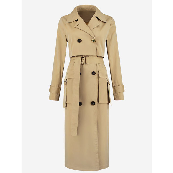 LUK TRENCH COAT FH 4-893 2004 BISCUIT