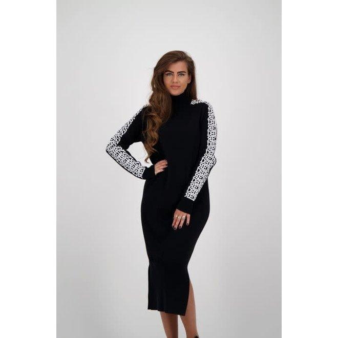 W819B DRESS 3D TRUE BLACK
