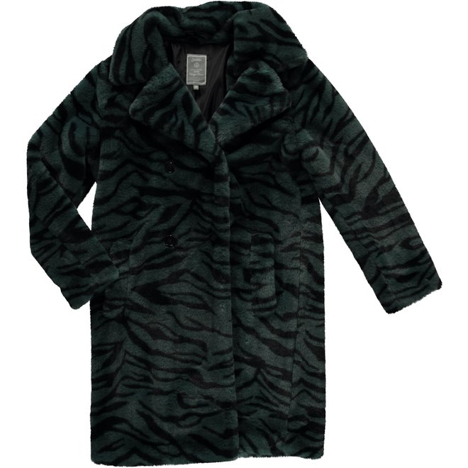 08545-19 COAT ZEBRA FUR