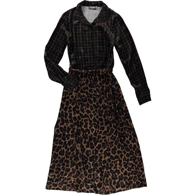 07633-20 DRESS BLACK/CAMEL COMBI