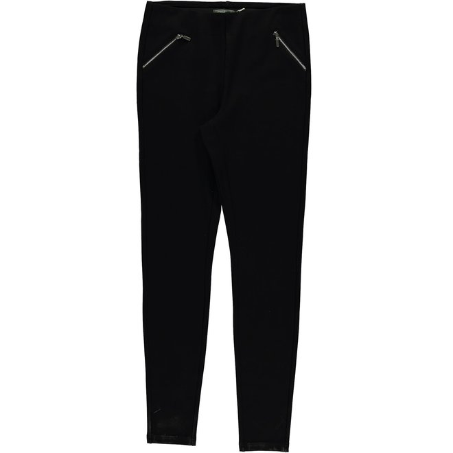 01587-11 LEGGING WITH ZIPPERS BLACK