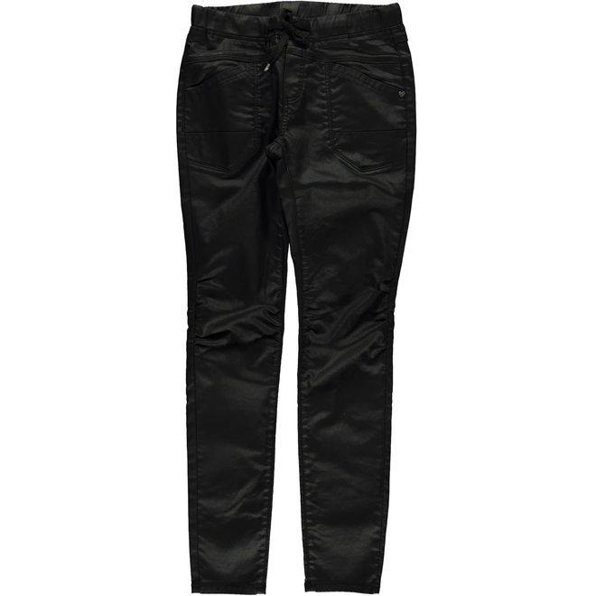 01512-10 JEANS JOG COATED BLACK