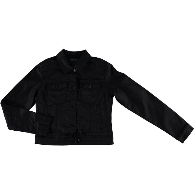 05512-10 JEANSJACKET JOG COATED BLACK
