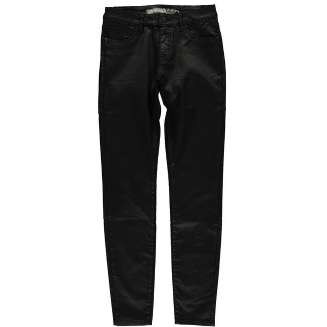 01516-10 JEANS JOG COATED BLACK