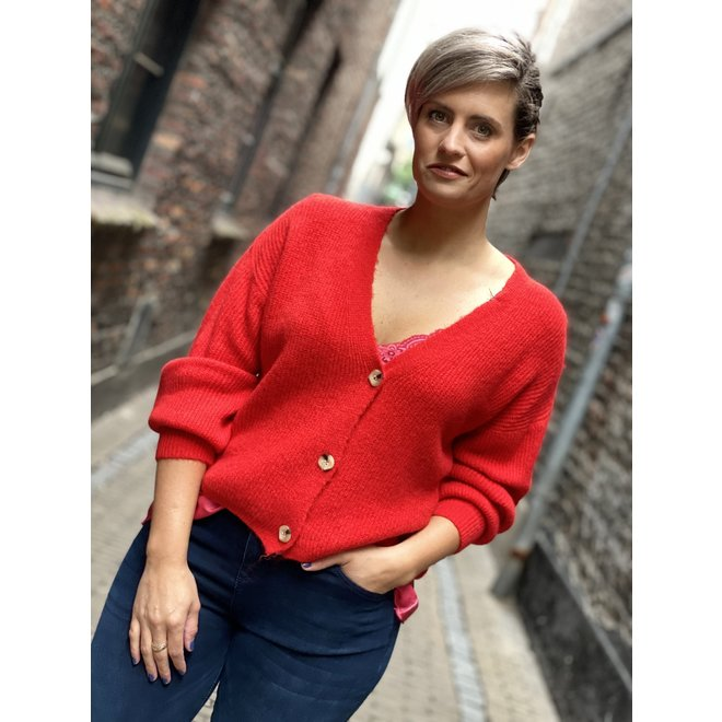 VEST KNOOP NK-0117 2035 RED
