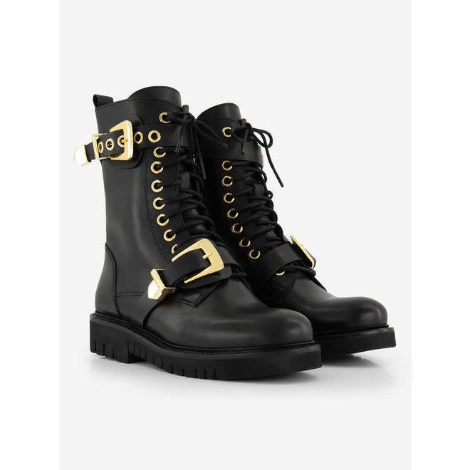 DUA BUCKLE BOOTS N 9-334 2005 BLACK/GOLD