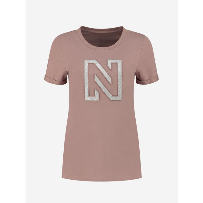 EMBOSSED N T-SHIRT N 6-413 2005 MAUVE