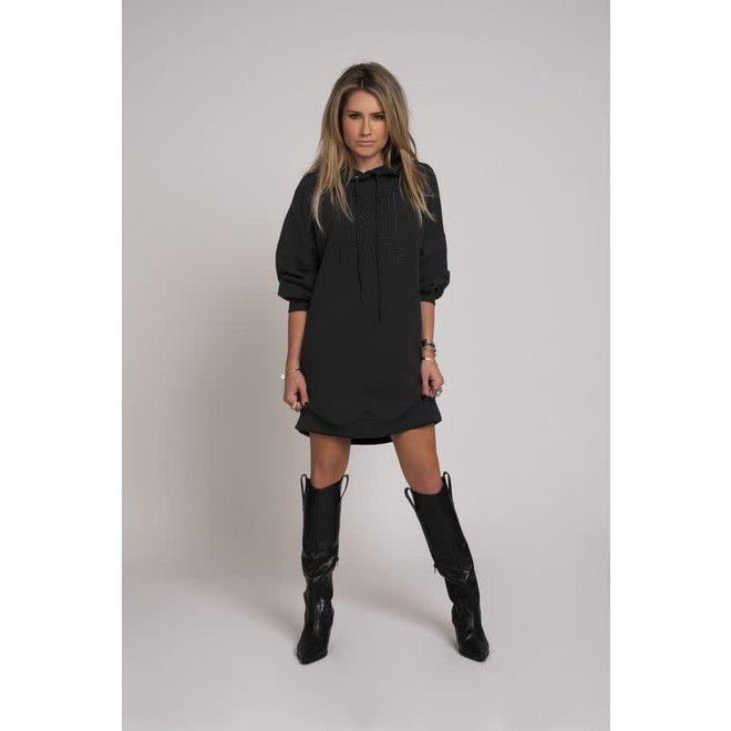 OVERSIZED HOODIE DRESS N 5-410 2005 BLACK