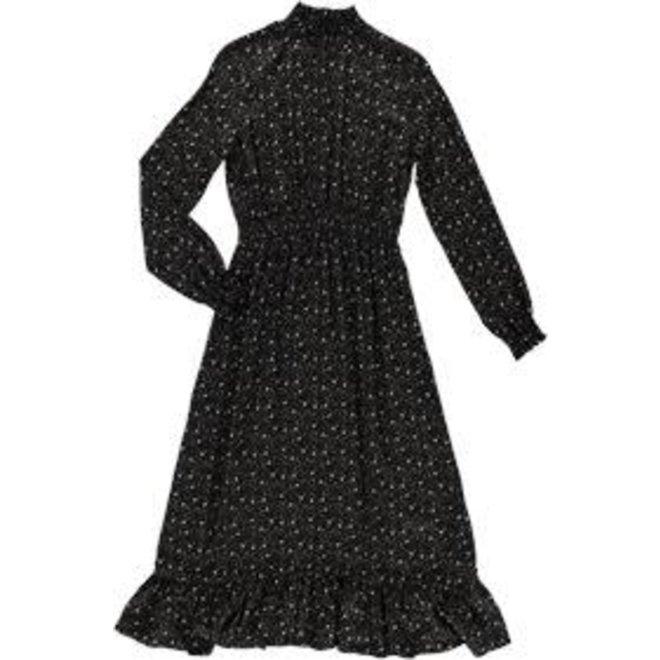 07620-20 DRESS BLACK-BROWN COMBI