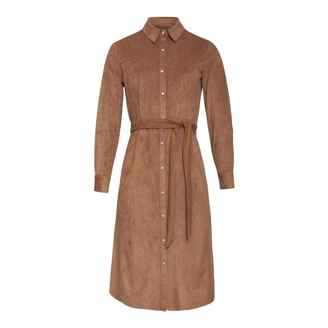 DRESS 20662 BROWN 775