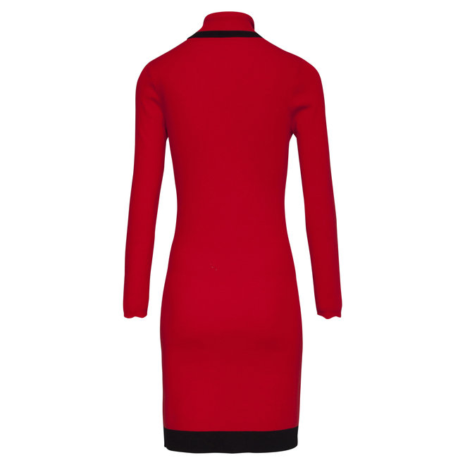 KNIT DRESS 20628 RED/BLACK 450/999