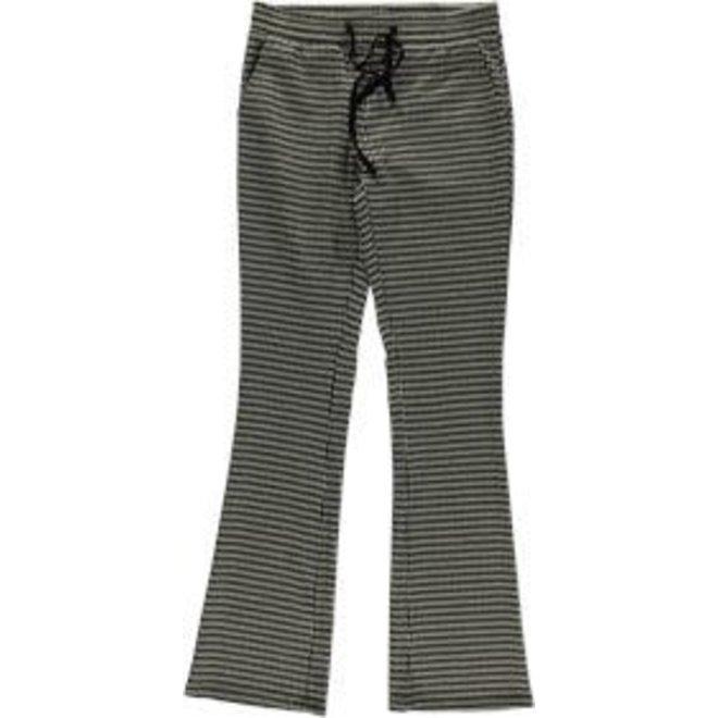 01575-21 PANTS PIED DE POULE BLACK/SAND/CAMEL