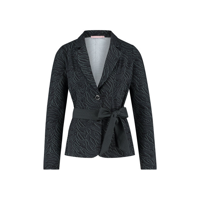 TESK ANIMAL BLAZER 05044 BLACK/DARK GREY