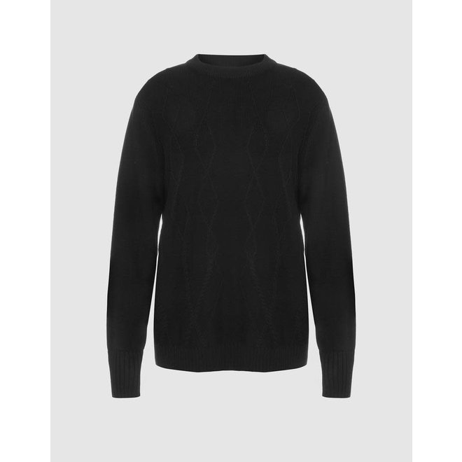 KATIE CABLE SWEATER BLACK