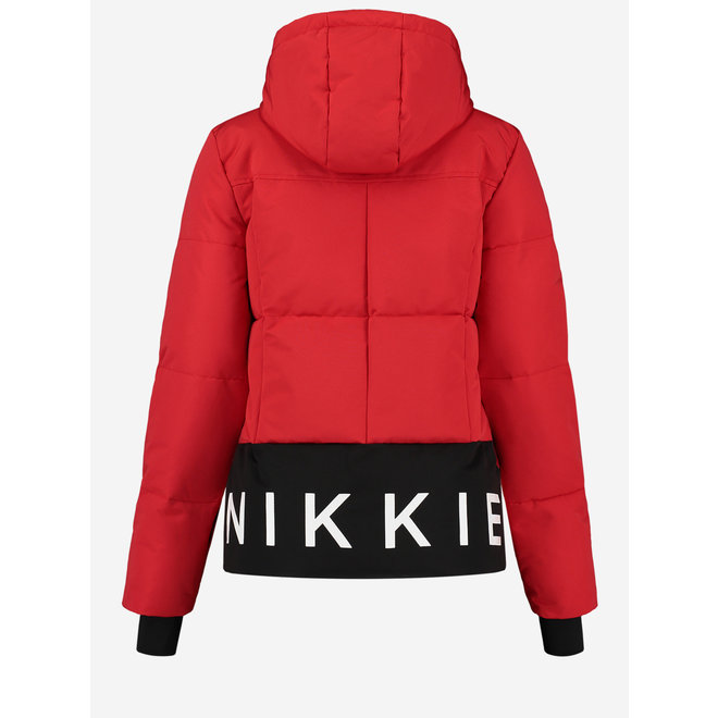 N 4-716 2006 NIKKIE LOGO SKI JACKET ROUGH RED