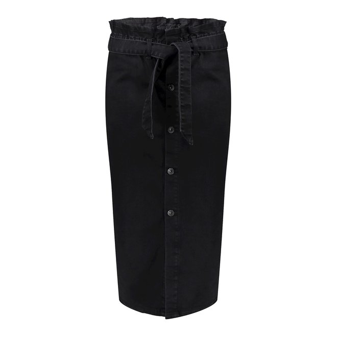 06820-50 LONG SKIRT WITH BUTTONS BLACK