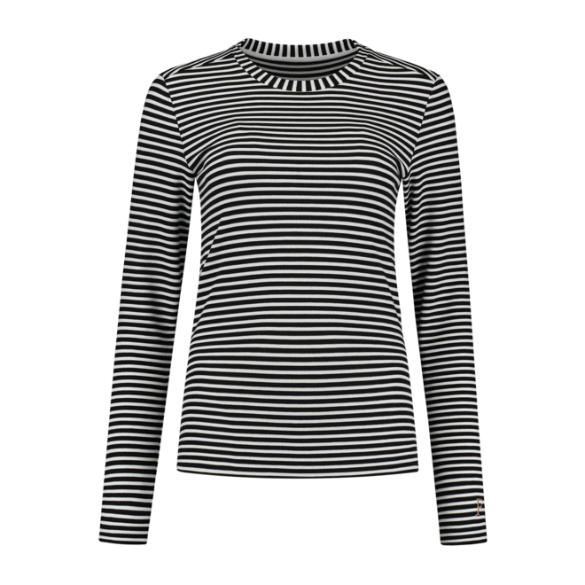 FH 6-051 2101 OLIE FITTED TOP  STRIPE BLACK